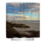 Clouds Over Holden Beach Shower Curtain