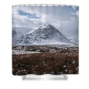 Clouds Over Mountains, Glencoe, Scotland Shower Curtain