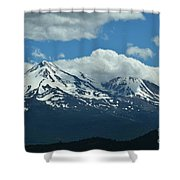 Clouds Over Mt Shasta Shower Curtain