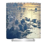 Clouds Over Ocean Shower Curtain by Ed Robinson - Printscapes