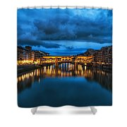 Clouds Over Ponte Vecchio Shower Curtain