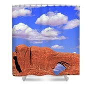 Clouds Over The Arches Shower Curtain