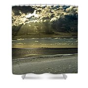 Clouds Over The Bay Shower Curtain