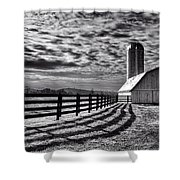 Clouds Over The Farm Shower Curtain