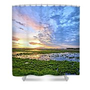Clouds Over The Marsh 4 Shower Curtain