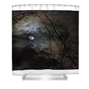 Clouds Over The Moon Shower Curtain