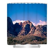 Clouds Over The Mountain Shower Curtain