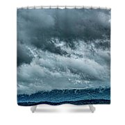 Clouds Over The Mountans 1329tmt Shower Curtain