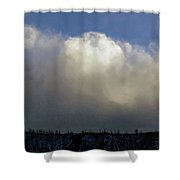 Clouds Over The Ridge Shower Curtain