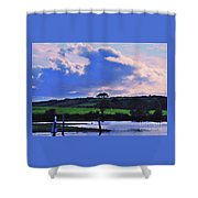 Clouds Over The Shannon, Ireland Shower Curtain