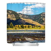 Clouds Over The Teton Foothills Shower Curtain