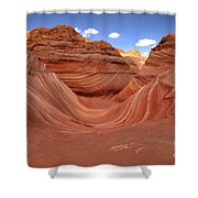Clouds Over The Wave Shower Curtain