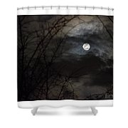 Clouds Passing The Snow Moon Shower Curtain