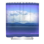Clouds Puget Sound Shower Curtain