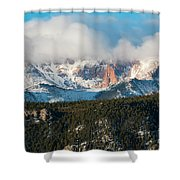 Clouds Receding On Pikes Peak Shower Curtain