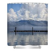 Clouds Reflecting Off Priest Lake Shower Curtain