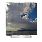 Clouds Rising Shower Curtain