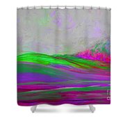 Clouds Rolling In Abstract Landscape Purple And Hot Pink Shower Curtain