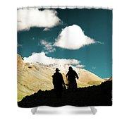 Clouds Way Kailas Kora Himalayas Tibet Yantra.lv Shower Curtain