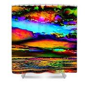 Clouds With Attitude Shower Curtain