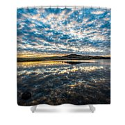 Cloudscape - Reflection Of Sky In Wichita Mountains Oklahoma Shower Curtain