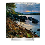 Cloudy Autumn Sunset Shower Curtain
