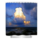 Cloudy Beach Shower Curtain