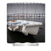 Cloudy Coronado Island Boat Shower Curtain