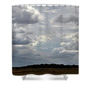 Cloudy Day At Dinenr Island Ranch Shower Curtain