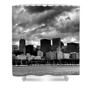 Cloudy Day Chicago - 2 Shower Curtain