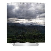 Cloudy Environment  Shower Curtain