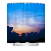 Cloudy Hedges Shower Curtain