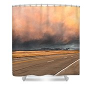 Cloudy Highway Shower Curtain