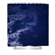 Cloudy Moon With Jupiter Shower Curtain