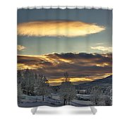 Cloudy Mothership Shower Curtain