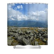 Cloudy Mount Washington Road Shower Curtain