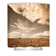 Cloudy Plain Shower Curtain