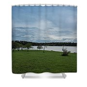 Cloudy Skies Shower Curtain