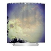 Cloudy Sky Before A Storm Shower Curtain