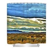 Cloudy Sunday Drive Shower Curtain