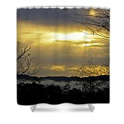 Cloudy Sunrise 1 Shower Curtain