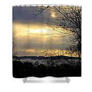 Cloudy Sunrise 2 Shower Curtain