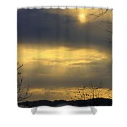 Cloudy Sunrise 4 Shower Curtain