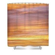 Cloudy Sunset Sky Shower Curtain