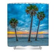 Cloudy Sunset -tampa, Florida Shower Curtain