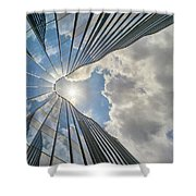 Cloudy Waves Shower Curtain