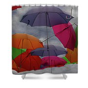 Cloudy With A Chance Of Umbrellas Shower Curtain