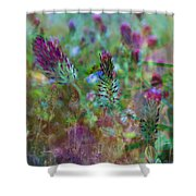 Clover Field Impressions Shower Curtain