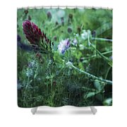 Clover Field Remix Shower Curtain