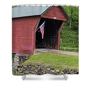 Clover Hollow Covered Bridge 01 Shower Curtain